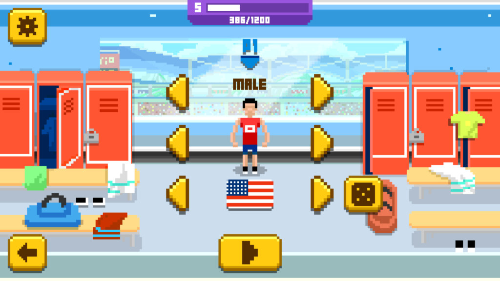 iOS Sports Hero Character Customization