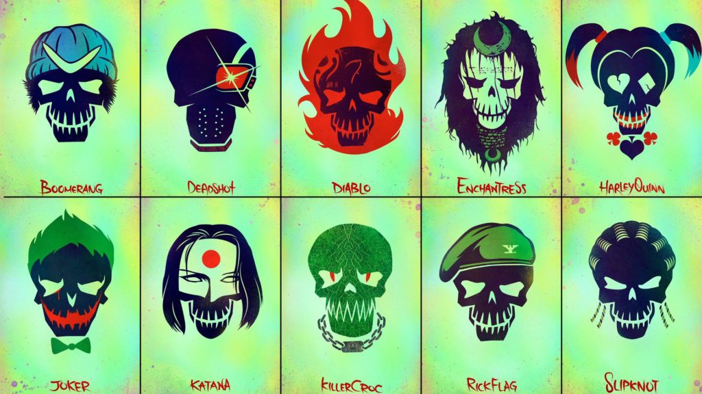 Suicide Squad Skulls