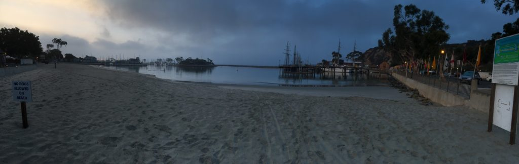a panoramic photo of my new favorite beach <3