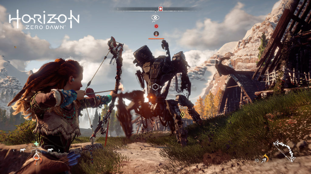Horizon Zero Dawn: Aloy takes down a corruptor